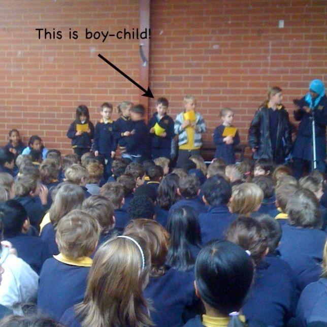 Boy-child wins an award!
