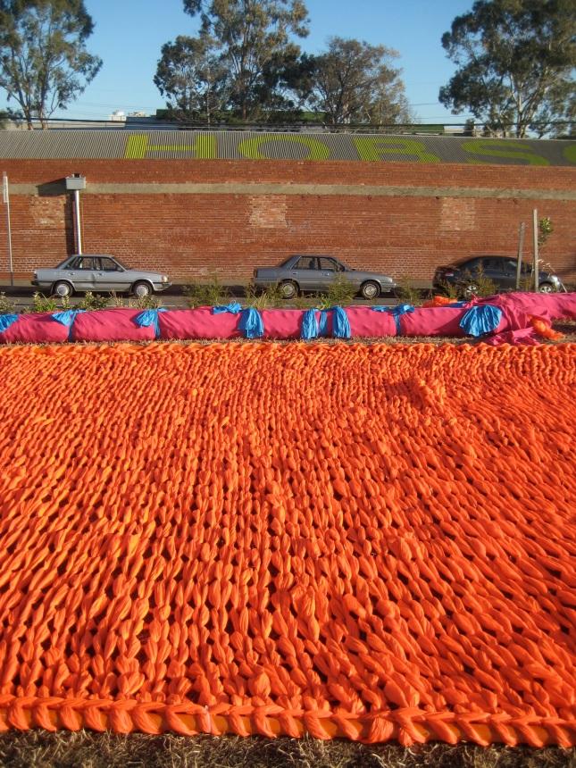 Orange Knitting
